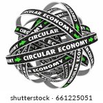 circular economy cycle roads... | Shutterstock . vector #661225051