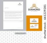 diamond ring identity design... | Shutterstock .eps vector #661229281