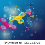 fidget spinner dark blue... | Shutterstock .eps vector #661233721
