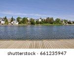 Boardwalk in a beautiful day in Timmins, Ontario, Canada