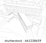 architecture  | Shutterstock .eps vector #661238659