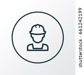 engineer outline symbol.... | Shutterstock .eps vector #661242199