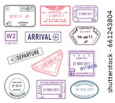 big set of international travel ... | Shutterstock .eps vector #661243804