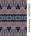 seamless paisley pattern.... | Shutterstock .eps vector #661245865