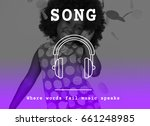 music melody rhythm sound song... | Shutterstock . vector #661248985