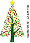 christmas tree design featuring ... | Shutterstock .eps vector #66125698