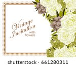 vintage delicate invitation...   Shutterstock .eps vector #661280311