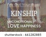 family parentage home love... | Shutterstock . vector #661282885