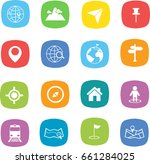 map icon and location icon   Shutterstock .eps vector #661284025