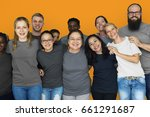 diverse group of people... | Shutterstock . vector #661291687
