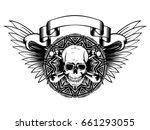 vector illustration grunge...   Shutterstock .eps vector #661293055