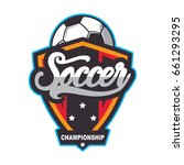 soccer logo  football badge... | Shutterstock .eps vector #661293295