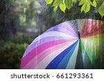 rain falling and colorful... | Shutterstock . vector #661293361