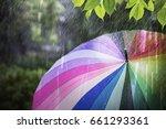 Rain Falling And Colorful...
