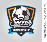 soccer logo  football badge... | Shutterstock .eps vector #661294174