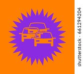 traffic jam icon. violet spiny... | Shutterstock .eps vector #661294204