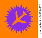 plane icon. violet spiny circle ... | Shutterstock .eps vector #661294495