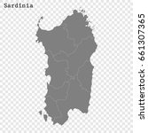 high quality map of sardinia is ... | Shutterstock .eps vector #661307365