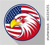 design badge circle with eagle... | Shutterstock .eps vector #661314151
