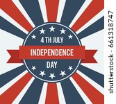 american independence day 4th... | Shutterstock .eps vector #661318747
