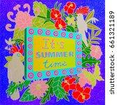 summer vacation illustration... | Shutterstock . vector #661321189