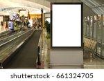 blank mock up of vertical... | Shutterstock . vector #661324705
