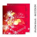 christmas template designs of... | Shutterstock .eps vector #66132634