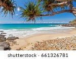 a clear day at coolum beach on... | Shutterstock . vector #661326781
