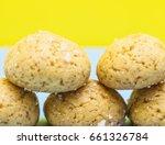 sugar cookies background   Shutterstock . vector #661326784