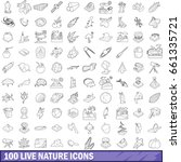 100 live nature icons set in... | Shutterstock .eps vector #661335721