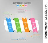 four ribbons for infographics ... | Shutterstock .eps vector #661339444