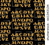 the pattern of a letter.... | Shutterstock .eps vector #661343134