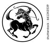 circle sagittarius archer...