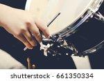 tuning the drum set. | Shutterstock . vector #661350334