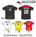 vector illustration of soccer t ... | Shutterstock .eps vector #661355221