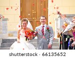 just married couple is being... | Shutterstock . vector #66135652