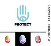 logo of a stylized hand with... | Shutterstock .eps vector #661362097