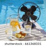 hot summer day during a heat... | Shutterstock . vector #661368331