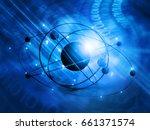 3d illustration of  atom model     Shutterstock . vector #661371574