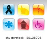 grey background with set of...   Shutterstock .eps vector #66138706