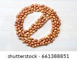 peanut allergy. stop  forbidden ... | Shutterstock . vector #661388851
