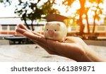 save money for student loans... | Shutterstock . vector #661389871