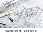 drawing detail and drawing tools | Shutterstock . vector #66140611