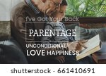 family parentage home love... | Shutterstock . vector #661410691