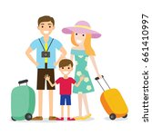 people family vacation flat...   Shutterstock .eps vector #661410997