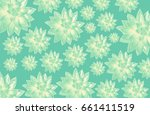 pattern of succulents | Shutterstock . vector #661411519