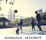 basketball sport exercise...   Shutterstock . vector #661418659