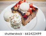 food   chocolate honey toast... | Shutterstock . vector #661422499