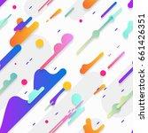 flat dynamic pattern.... | Shutterstock .eps vector #661426351