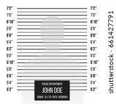 police wall lineup metrical... | Shutterstock .eps vector #661427791